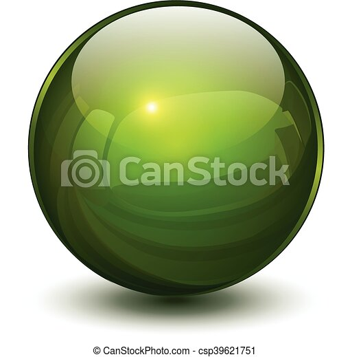 Esfera de vidrio 3D - csp39621751
