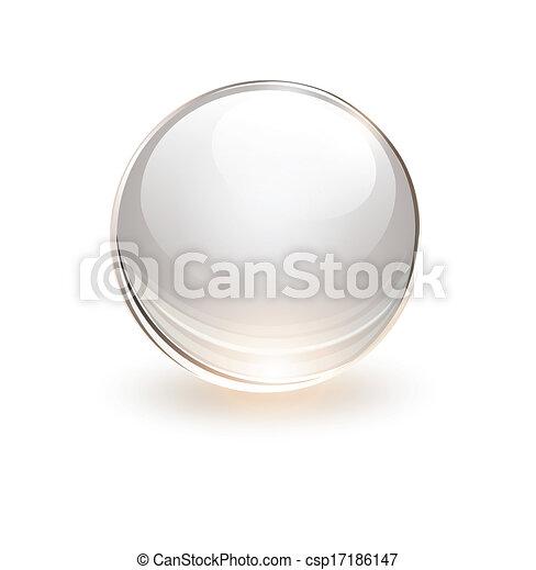 Esfera de vidrio 3D - csp17186147