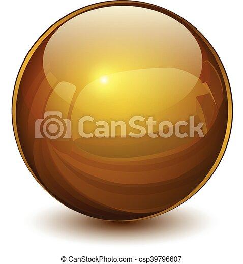 esfera, 3d, vidro - csp39796607