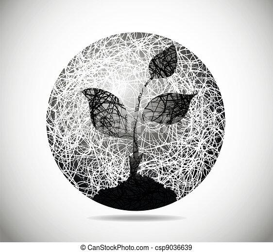 esfera, abstratos, magia - csp9036639
