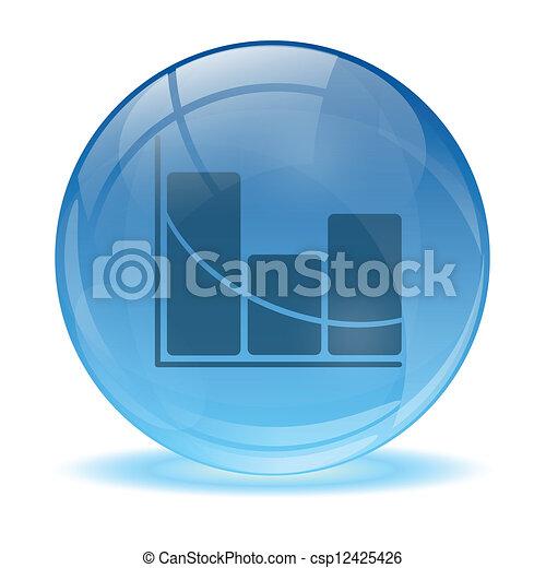 Esfera de vidrio 3D icono estadístico - csp12425426