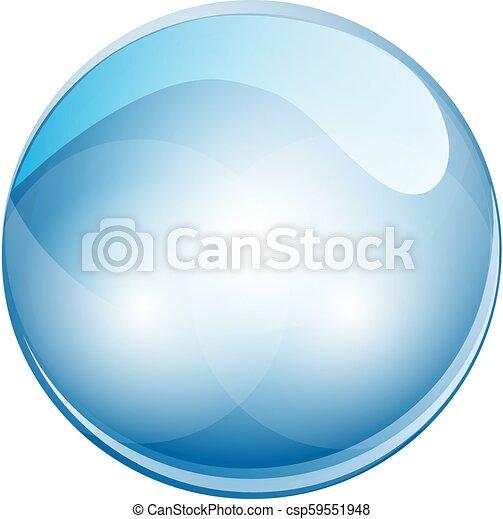Bola de esfera de cristal 3D. Ilustración de vectores - csp59551948
