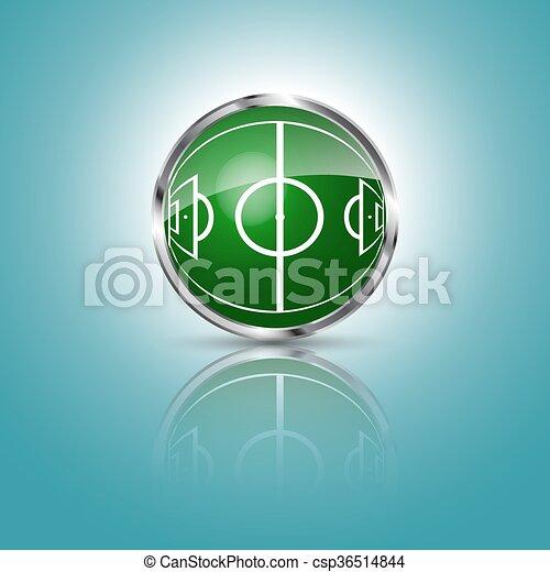 Esfera de hierba verde con campo de fútbol - csp36514844