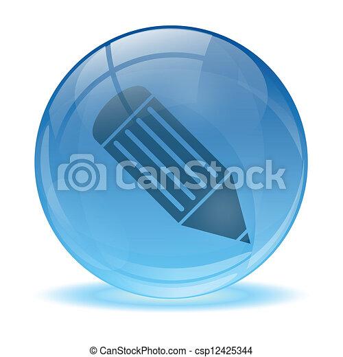 Un icono de pluma de 3D - csp12425344