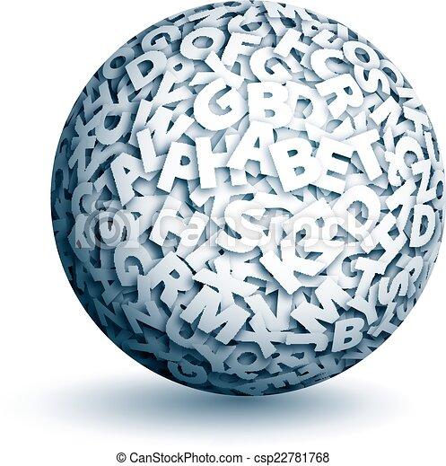 Esfera de vectores de letras - csp22781768