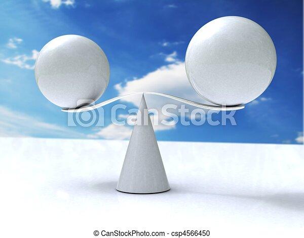 Las esferas se balancean - csp4566450