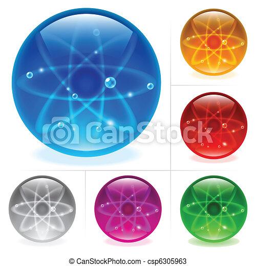 Esferas brillantes - csp6305963