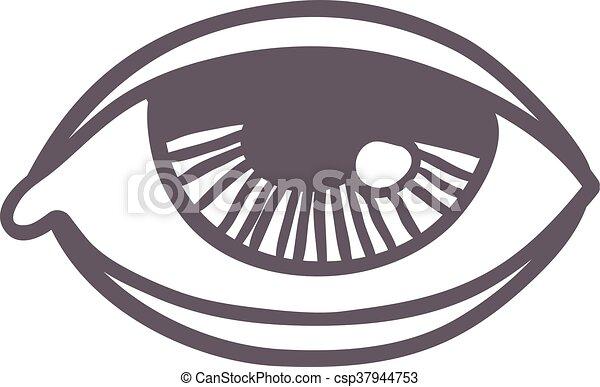 Esoteric Eye Symbol Vector Illustration Vector Esoteric Eye Symbol