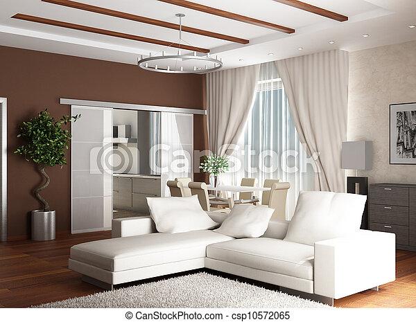 Esp ce salle moderne rendering deux 3d sofas int rieur blanc moquette doux dessin for Moquette moderne