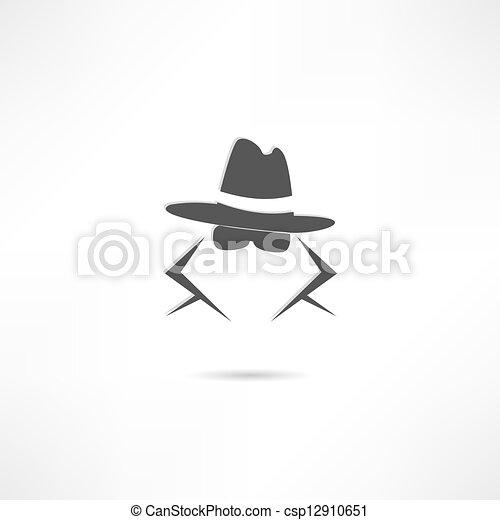 espía, icono - csp12910651