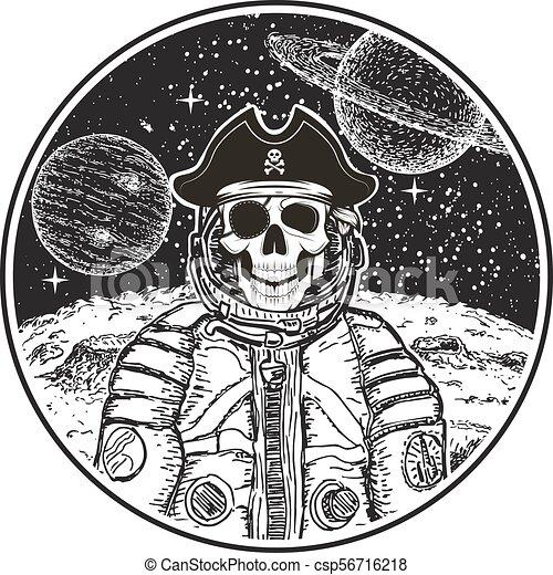 Espaco Modernos T Shirt Vetorial Astronauta Modelo Desenho