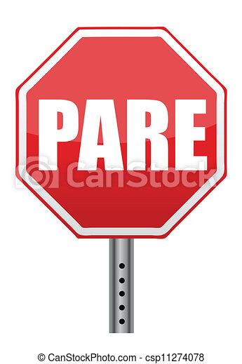 Ilustración de parada española - csp11274078