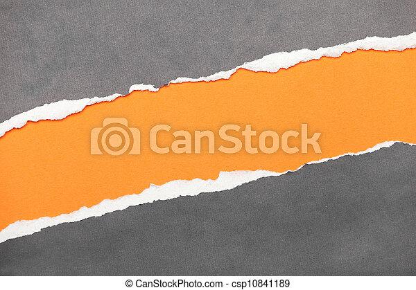 espace, déchiré, bord, papier, message, ton - csp10841189