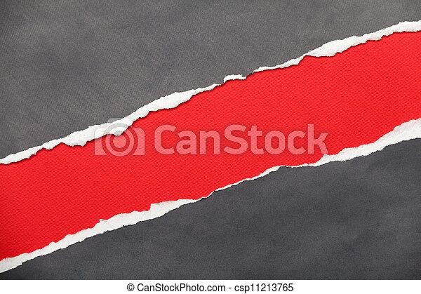 espace, papier déchiré, textured, message, ton - csp11213765
