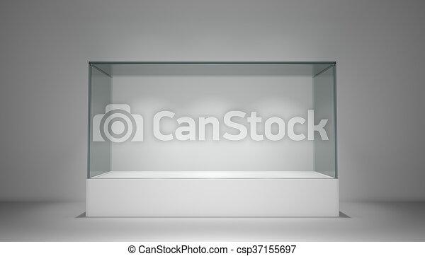 espace vitrine verre exposition copie vide verre vitrine space rendre exposition. Black Bedroom Furniture Sets. Home Design Ideas