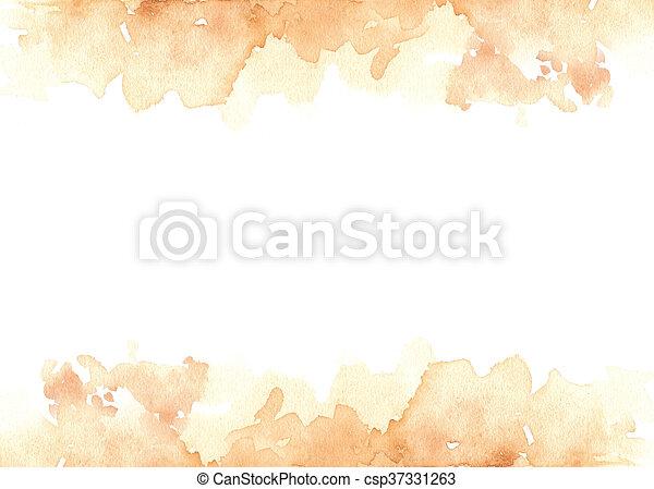 Fondo de pintura acuática con espacio de copia en el medio - csp37331263