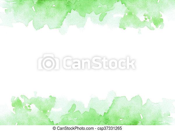 Fondo de pintura acuática con espacio de copia en el medio - csp37331265