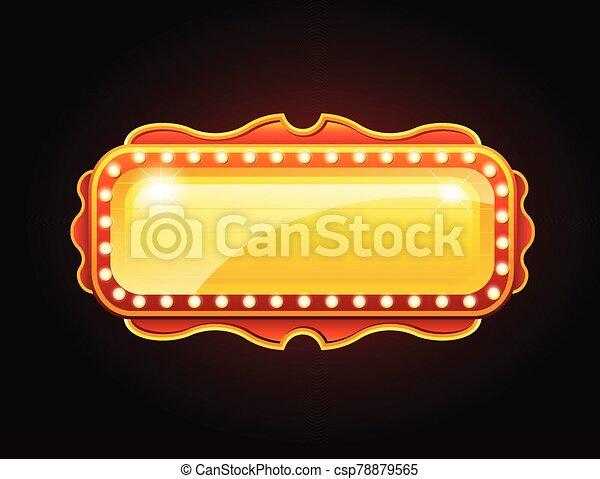 espacio, dorado, señal, bandera, casino, copia - csp78879565