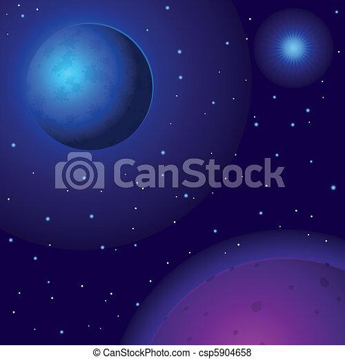 El espacio, planetas y estrellas - csp5904658