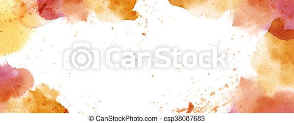 Acuarela con salpicera de fondo espacio de copia blanca - csp38087683