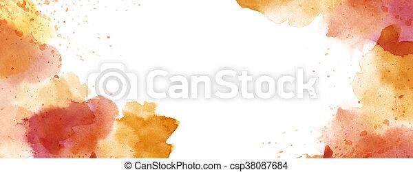 Acuarela con salpicera de fondo espacio de copia blanca - csp38087684