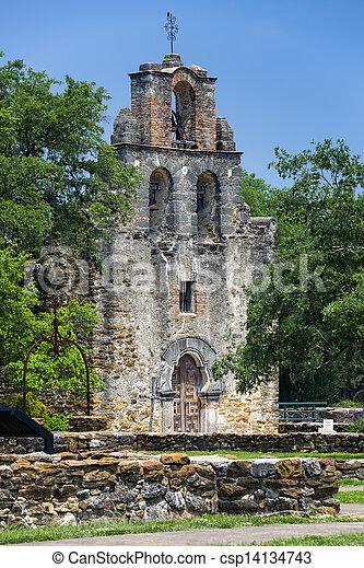 """Misión """"Espada"""", San Antonio, TX - csp14134743"""