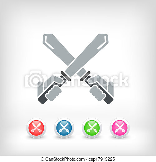 icono espada - csp17913225