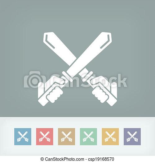 icono espada - csp19168570