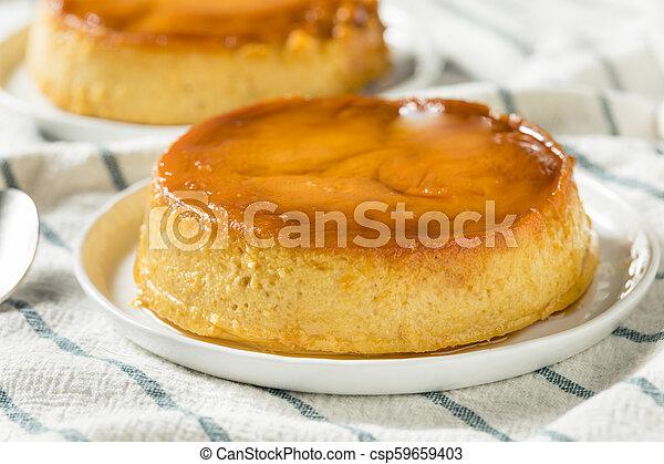 Espagnol Doux Flan Fait Maison Dessert Doux Espagnol Caramel Fait Maison Dessert Flan Sauce Canstock