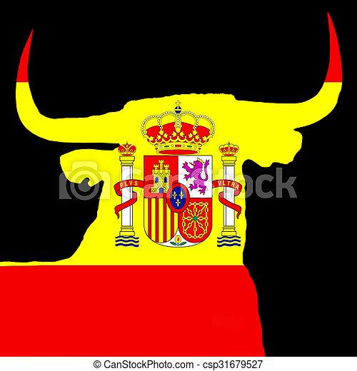 espagnol, taureau - csp31679527
