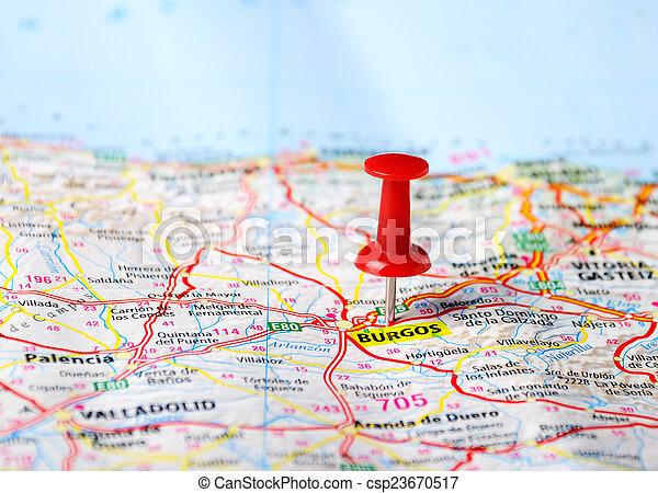 Espanha Burgos Mapa Mapa Burgos Conceito Viagem