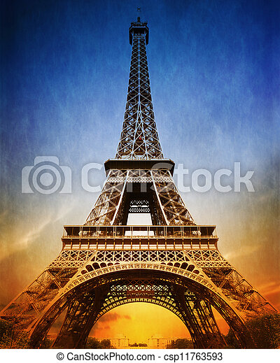 espantoso, torre eiffel - csp11763593
