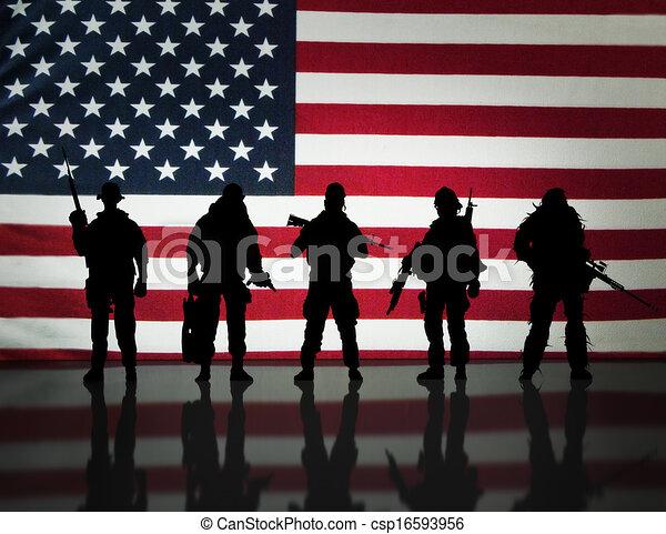 Fuerzas especiales militares - csp16593956