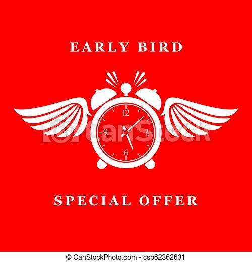 especial, madrugador, oferta, icono - csp82362631