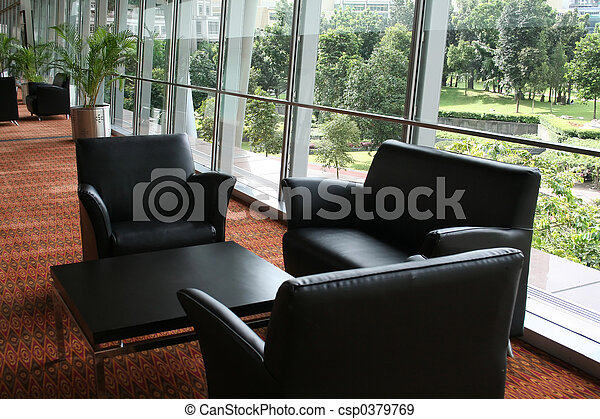 La zona de espera de negocios - csp0379769