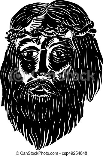 Espinas Corona Cristo Woodcut Cristo Woodcut Corona