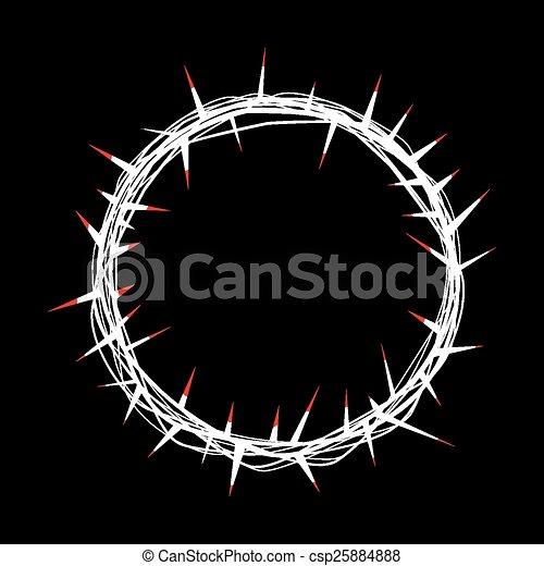 Espinas Corona Sangre Rojo Adornado El Suyo 10 Cristo