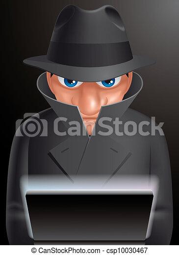 espion, informatic - csp10030467