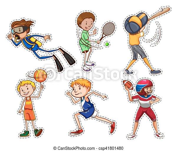 esportes, diferente, jogo, pessoas - csp41801480