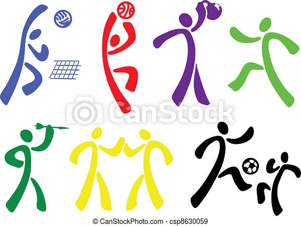 esportes, jogo, ícone - csp8630059