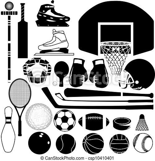 esportes, vetorial, equipamento - csp10410401