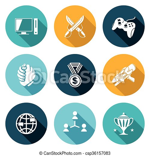 eSports Icons Set. Vector Illustration. - csp36157083