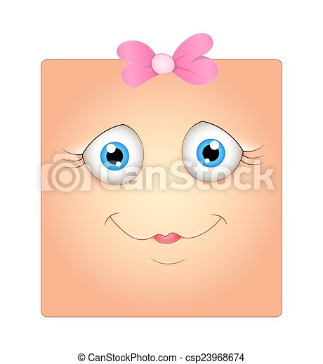 espressione, innocente, faccia - csp23968674