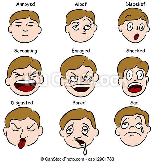 espressioni, facciale - csp12901783