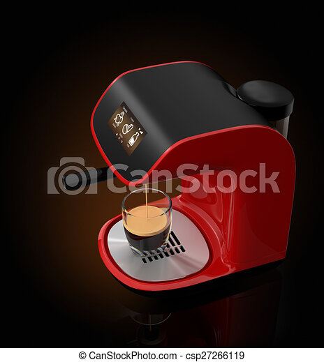 Espresso coffee machine and cup - csp27266119