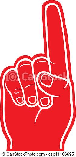 espuma, dedo - csp11106695