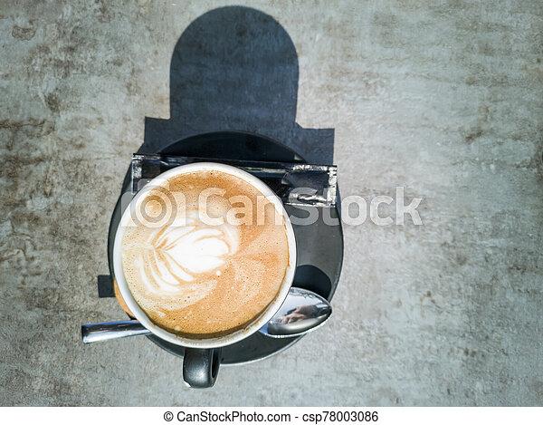 espuma, dibujo, café - csp78003086