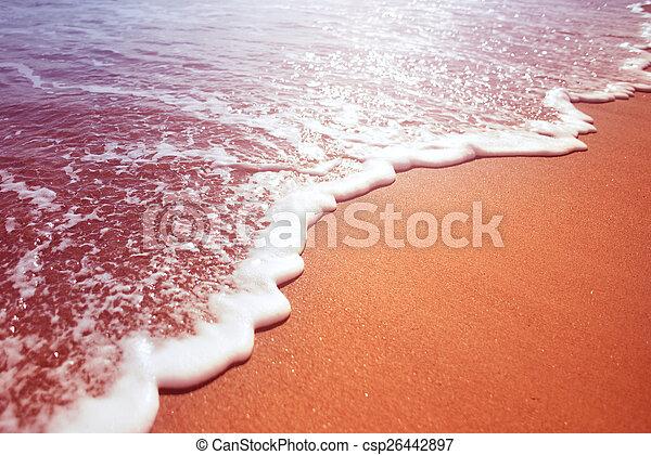 espuma, mar, onda - csp26442897