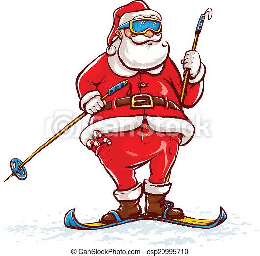 Santa Claus en esquís - csp20995710