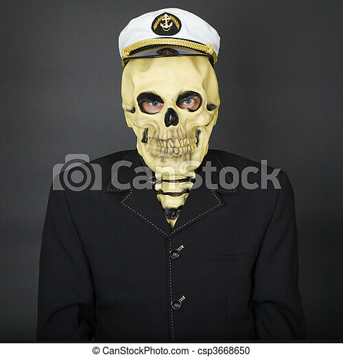 Esqueleto gorra naval hombre Naval gorra fondo oscuro